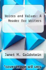 cover of Voices and Values: A Reader for Writers