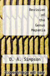 Cover of Revision of the Genus Mapania EDITIONDESC (ISBN 978-0947643539)