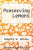 cover of Preserving Lemons