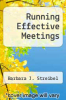 cover of Running Effective Meetings