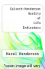 cover of Calvert-Henderson Quality of Life Indicators
