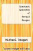 cover of Greatest Speeches of Ronald Reagan (2nd edition)