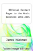 cover of Official Contact Pages to the Music Business 2003-2004