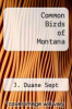 cover of Common Birds of Montana