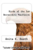 cover of Birds of the San Bernardino Mountains