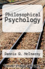 cover of Philosophical Psychology