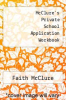 cover of McClure`s Private School Application Workbook