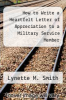 cover of How to Write a Heartfelt Letter of Appreciation to a Military Service Member