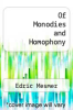 cover of Of Monodies and Homophony