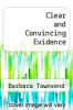 cover of Clear and Convincing Evidence