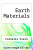 cover of Earth Materials (2nd edition)