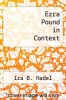 cover of Ezra Pound in Context