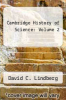 cover of The Cambridge History of Science: Volume 2, Medieval Science