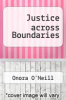 cover of Justice across Boundaries