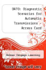 cover of DATO: Diagnostic Scenarios for Automatic Transmissions - Cengage Learning Hosted Printed Access Card (1st edition)