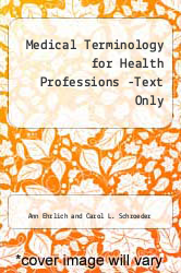 Cover of Medical Terminology for Health Professions (Book Only) 6 (ISBN 978-1111320263)