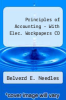 cover of Principles of Accounting - With Elec. Workpapers CD (11th edition)