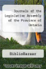 cover of Journals of the Legislative Assembly of the Province of Ontario