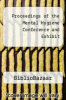 cover of Proceedings of the Mental Hygiene Conference and Exhibit