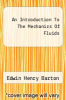 cover of An Introduction To The Mechanics Of Fluids