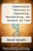cover of Communication Practices in Engineering, Manufacturing, and Research for Food and Water Safety (1st edition)