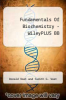 cover of Fundamentals Of Biochemistry - WileyPLUS BB (4th edition)