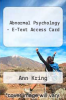 cover of Abnormal Psychology - E-Text Access Card (12th edition)