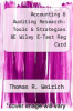cover of Accounting & Auditing Research: Tools & Strategies 8E Wiley E-Text Reg Card (8th edition)