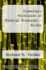 cover of Elementary Principles of Chemical Processes - Access (4th edition)