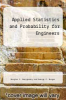 cover of Applied Statistics and Probability for Engineers (7th edition)