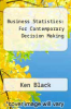 cover of Business Statistics (9th edition)