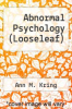 cover of Abnormal Psychology (Looseleaf) (14th edition)