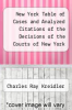 cover of New York Table of Cases and Analyzed Citations of the Decisions of the Courts of New York Volume 4; Covering the Years January 1, 1898-January 1 1912