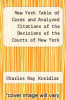 cover of New York Table of Cases and Analyzed Citations of the Decisions of the Courts of New York Volume 3; Covering the Years January 1, 1898-January 1 1912