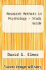 cover of Research Methods in Psychology - Study Guide (9th edition)