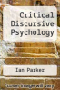 cover of Critical Discursive Psychology (2nd edition)