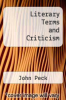 cover of Literary Terms and Criticism (3rd edition)