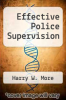 cover of Effective Police Supervision (7th edition)
