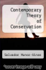 cover of Contemporary Theory of Conservation