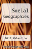 cover of Social Geographies