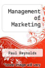 cover of Management of Marketing