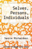 cover of Selves, Persons, Individuals