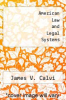 cover of American Law and Legal Systems (8th edition)