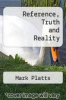 cover of Reference, Truth and Reality