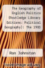 cover of The Geography of English Politics (Routledge Library Editions: Political Geography): The 1983 General Election