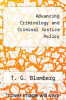 cover of Advancing Criminology and Criminal Justice Policy