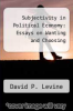 cover of Subjectivity in Political Economy: Essays on Wanting and Choosing
