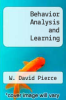 cover of Behavior Analysis and Learning (6th edition)