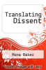 cover of Translating Dissent