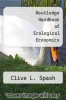 cover of Routledge Handbook of Ecological Economics (1st edition)